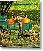 Market Wagon Metal Print