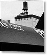 markings on a Lockheed A12 Blackbird on the flight deck of the USS Intrepid  Metal Print