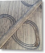 Marks On The Ground Aerial Photography Metal Print