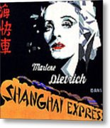 Marlene Dietrich Art Deco French Poster Shanghai Express 1932-2012 Metal Print