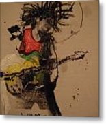 Marley With Bow And Arrow Guitar Metal Print