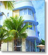 Marlin Hotel Side View Metal Print