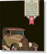 Marmon 34  - Vintage Poster Metal Print