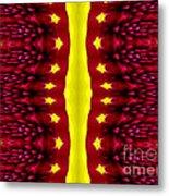 Maroon And Yellow Chrysanthemums 2 Polar Coordinates Effect Metal Print