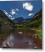Maroon Bells At Night Metal Print