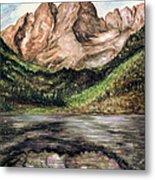 Maroon Bells Colorado - Landscape Metal Print