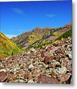 Maroon Valley Metal Print