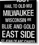 Marquette College Town Wall Art Metal Print by Replay Photos