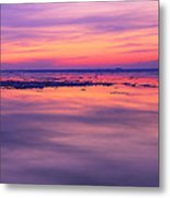 Marquette Sunset On Ice Metal Print