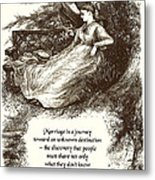 Marriage Is A Journey Metal Print