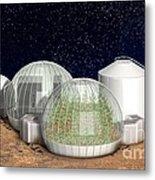 Mars Base, Artwork Metal Print