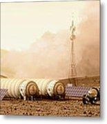 Mars Dust Storm Metal Print