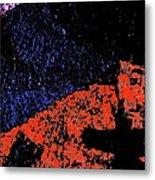 Mars Red Mountain Metal Print