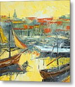 Marseille Harbour Metal Print