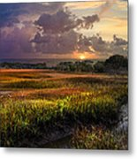 Marsh At Sunrise Metal Print