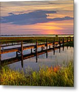 Marsh Harbor Metal Print