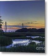 Marsh To Bridge Metal Print