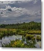 Marsh Under The Clouds Metal Print by Jason Brow