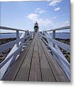 Marshall Point Lighthouse And Walkway Metal Print