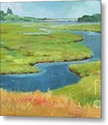 Marshes At High Tide Metal Print