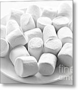 Marshmallows On Plate Metal Print