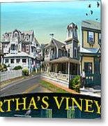 Martha's Vineyard Collage Metal Print