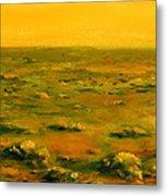 Martian Desert Landscape Art  Metal Print