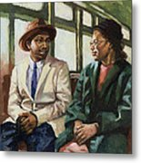 Martin And Rosa Up Front Metal Print