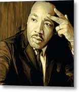 Martin Luther King Jr Artwork Metal Print by Sheraz A