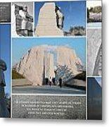 Martin Luther King Jr Memorial Collage 1 Metal Print