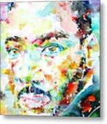 Martin Luther King Jr. - Watercolor Portrait Metal Print