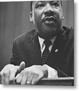 Martin Luther King Press Conference 1964 Metal Print by Anonymous