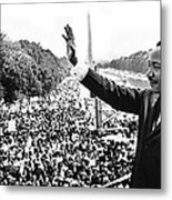 Martin Luther King The Great March On Washington Lincoln Memorial August 28 1963-2014 Metal Print