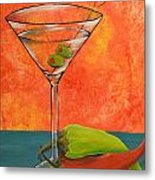 Martini And Pepper Metal Print