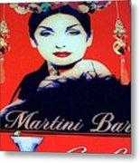 Martini Bar Metal Print