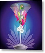 Martini Flower Metal Print