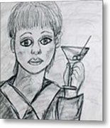 Martini Girl Metal Print