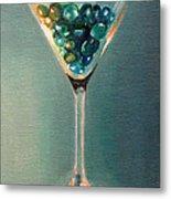 Martini Glass Metal Print