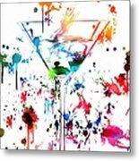 Martini Paint Splatter Metal Print
