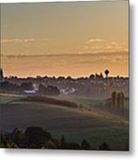 Martinshoehe In Fall Metal Print by Jeffrey Teeselink