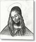 Mary After Davinci Metal Print