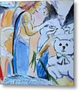 Mary And Gabriel Metal Print