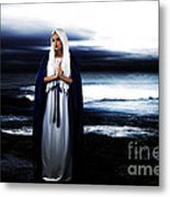 Mary By The Sea Metal Print