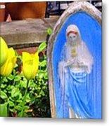 Mary In Springtime Metal Print