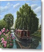 Mary Jane Chesterfield Canal Nottinghamshire Metal Print