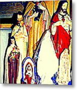 Mary Joseph And Jesus Vintage Religious Catholic Statues Patron Saints And Angels Cb Spandau Quebec Metal Print