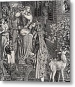 Mary Magdalene At The Door Of Simon Metal Print