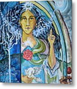 Mary Magdalene Watercolor Metal Print