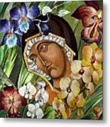Mary Of The Orchids  Metal Print