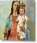 Mary Statue At Taybeh Village Metal Print